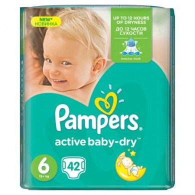 Pampers Activ Baby 6 (15+кг.) 42бр.