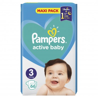 Pampers Activ Baby 3 (6-10кг.) 66бр.
