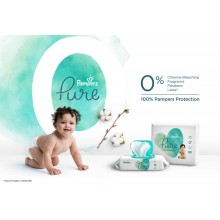 Pampers Pure Protection Пелени 2, 4-8кг., 39бр.