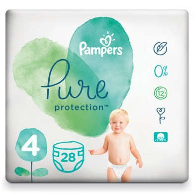 Pampers Pure Protection 4 9-14кг. 28бр.