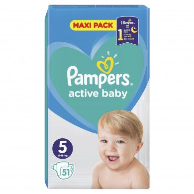 Pampers Activ Baby 5 (11-18кг.) 51бр.