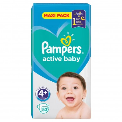 Pampers Activ Baby 4+ (9-16кг.) 53бр.
