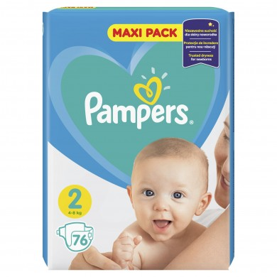 Pampers New Baby 2 (3-6кг.) 76бр.