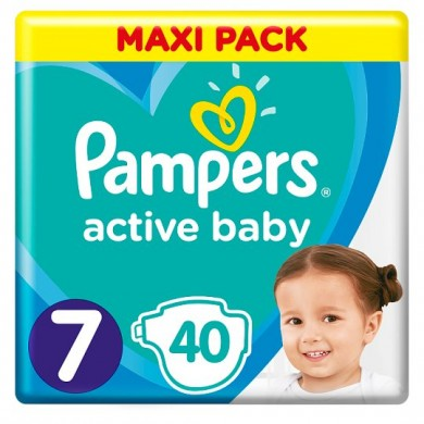 Pampers Activ Baby 7 (15кг.+) 40бр.
